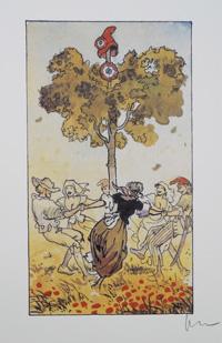 Dancing the Carmagnole around the Tree-of-Liberty art by Milo Manara