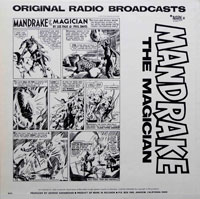 Mandrake The Magician - Original Radio Broadcasts (vinyl record) by Lee Falk and Phil Davis