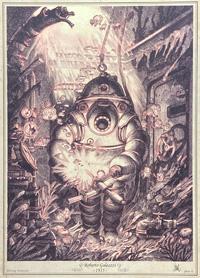 Diving Armour - Robert Galeazzi - 1935 art by Stan Manoukian