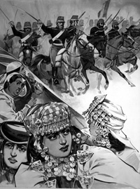 Algeria Invasion (TWO pages) art by Angus McBride