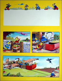 Dicky and Dolly Go Flying art by Harold McCready
