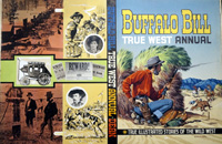 Buffalo Bill True West Annual original cover artwork art by Denis McLoughlin