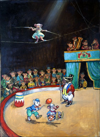 At The Circus art by Philip Mendoza