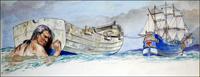 Gulliver - All At Sea art by Philip Mendoza