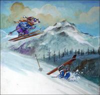 Downhill Flyer art by Philip Mendoza