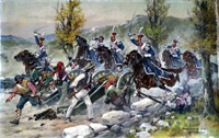 Somosierra the Charge of the Polish Light Horse 1808 art by Edward Mesjasz