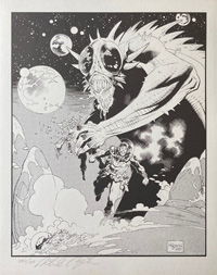 Torn in Half art by Mike Mignola