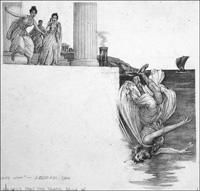 How The Aegean Sea Got Its Name art by John Millar Watt