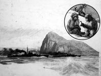 The Rock of Gibraltar art by John Millar Watt
