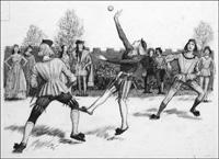 The Origin of Tennis art by John Millar Watt