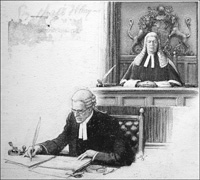 The Clerk Records the Verdict art by John Millar Watt