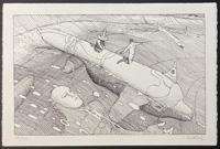 40 Days in The Desert Screenprint art by Moebius (Jean Giraud)