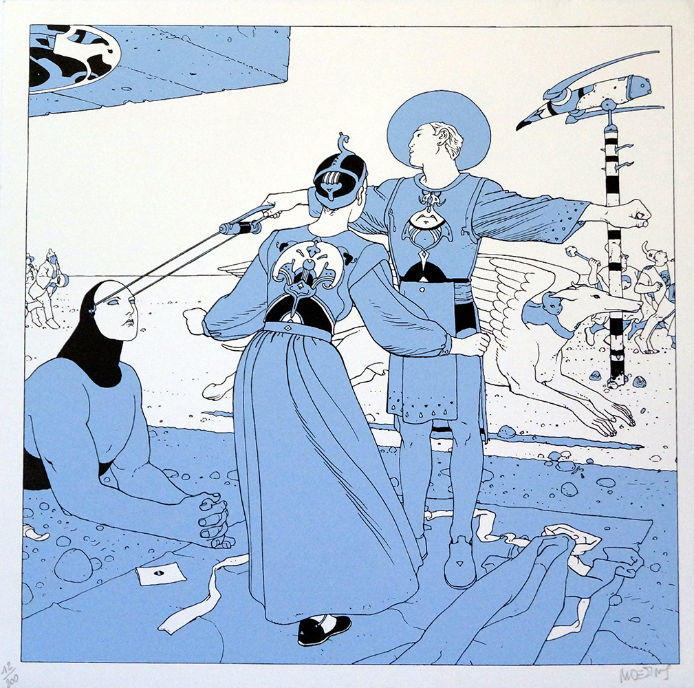 Blue Mystery art by Moebius (Jean Giraud)