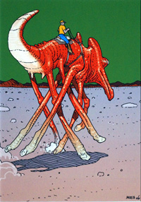 Mars - Cavalcadeur art by Moebius (Jean Giraud)