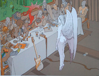 Hendrix - The Last Supper art by Moebius (Jean Giraud)