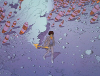 Hendrix - Purple Haze art by Moebius (Jean Giraud)
