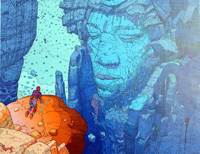 Hendrix - Mountain art by Moebius (Jean Giraud)