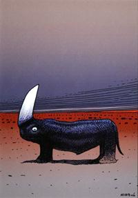 Mars - Little Torino art by Moebius (Jean Giraud)