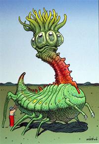 Mars - Peticok art by Moebius (Jean Giraud)