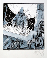 Space Piano Destruction (Signed Limited Edition Print) by Moebius
