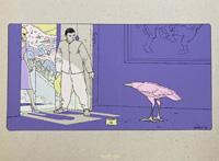 The Rose Bird - Full Colour Screenprint art by Moebius (Jean Giraud)
