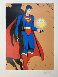 The Man of Steel art by Moebius (Jean Giraud)