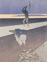 The Wall art by Moebius (Jean Giraud)