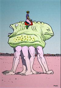 Mars - Zagzig art by Moebius (Jean Giraud)