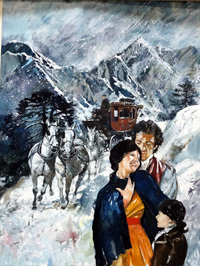 The Alpine Coach book cover art art by Tony Morris