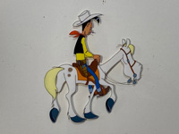 Lucky Luke in Daisy Town art by Belvision Studios (after Morris)