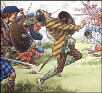 Battle of Culloden art by Patrick Nicolle