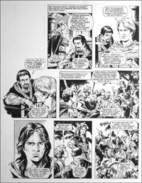 Robin of Sherwood - Nottingham Castle (TWO pages) art by Mike Noble
