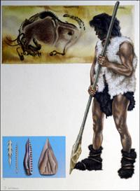 Cro-Magnon Hunter art by David Nockels