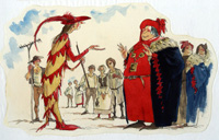 The Pied Piper of Hamelin 2 art by Richard O Rose