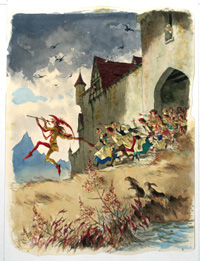 The Pied Piper of Hamelin 4 art by Richard O Rose