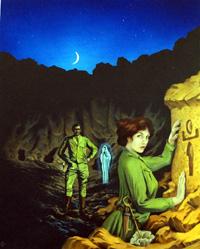The Curse of the Pharaohs cover art art by Kim Palmer