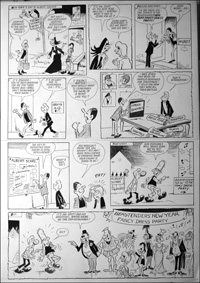 Beastenders - New Years Party (TWO pages) art by Reg Parlett