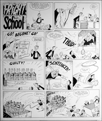 Fright School - Hanging Judge (TWO pages) art by Reg Parlett