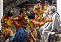 The Death of Socrates art by Roger Payne