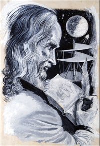 Leonardo da Vinci art by Ken Petts