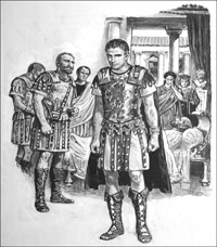 Tiberius and Caligula art by Ken Petts