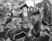 King George II at Dettingen art by Ken Petts