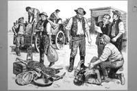 The Sheriff was a Bandit art by Ken Petts