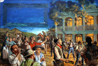 The Australian Gold Rush art by Ken Petts