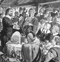 The First Thanksgiving Meal art by Ken Petts