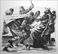 The Death of King Vortigern art by Ken Petts