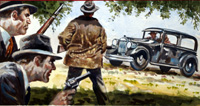 The End of Bonnie and Clyde art by Edwin Phillips