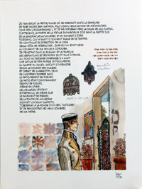 Corto Maltese in Spain art by Hugo Pratt