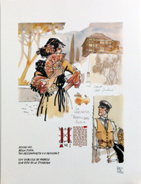 Bella Judia and Corto Maltese art by Hugo Pratt
