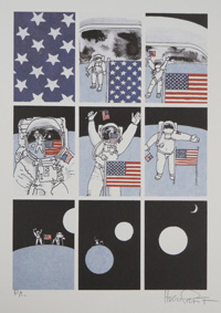 Moon Landing (Signed Print) by Hugo Pratt